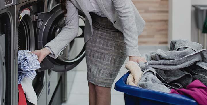 다양한 종류의 세탁 일자리